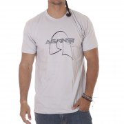 Against Clothing Tshirt. Color: light grey.