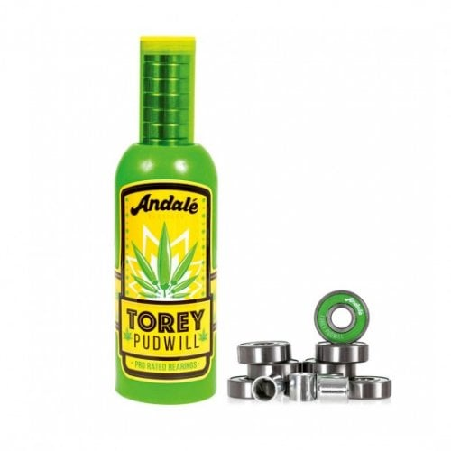 Andale Bearings: Torey Pudwill Green Hot Sauce Wax & Pro Rated Bearings