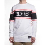 BDSkateCO T-shirt met lange mouwen: BD Long Sleeve BD-SB WH