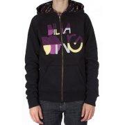 Billabong Girl reversible Sweatshirt. Logo embroidery. Color: black/purple/yellow.