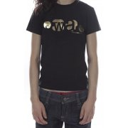 Camiseta Chica Ewan: Básica Oro BK