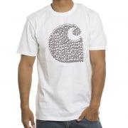 Carhartt T-Shirt: SS Duck Swarm WH