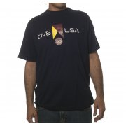 DVS T-Shirt: Competition Tee - Navy/Yellow NV