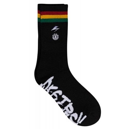 Element Sokken: BB Striped Socks Black