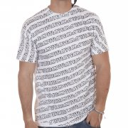 Famous Stars and Straps Famous T-shirt: Cascade All Overprint WH, S