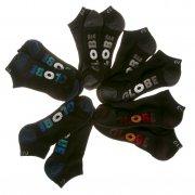 Globe Socks: Multi Stripe Ankle Sock 5 Pack BK