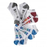 Globe Socks: Multi Stripe Ankle Sock 5 Pack WH