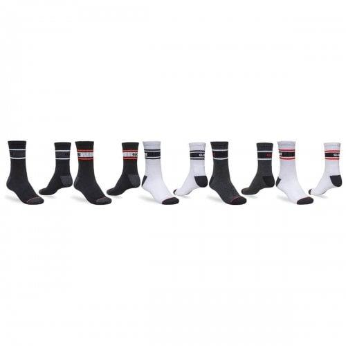 Globe Socks: Triple Stripe Crew Sock 5PK