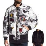 Grimey Jasje: Double Face Bombre Jacket Reversible CM/BK