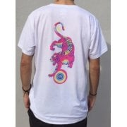 Imagine Skateboards T-Shirt: Tiger Pink Navy WH