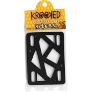 "Krooked Skateboardings Riser Pads: Riser Pads Black 1/4"""