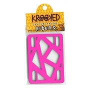 Krooked Skateboardings Riser Pads: Riser Pads Hot Pink 1/8""