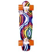 Long Island Skateboard Cruiser: Buddie 15B LI All Over Psychedelic 22.5""