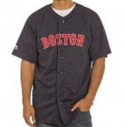 Majestic Overhemd: MLB Replica Jersey Boston NV