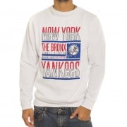 Majestic Sweatshirt: Graphic Crew NY Yankees WH
