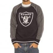 Majestic Sweatshirt: Graphic Crew Raiders BK/GR