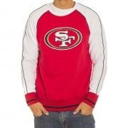 Majestic Sweatshirt: Raglan Crew 49ers RD/WH