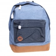 Mi-Pac Backpack: Denim Patch Stonewash/Indigo BL/BR