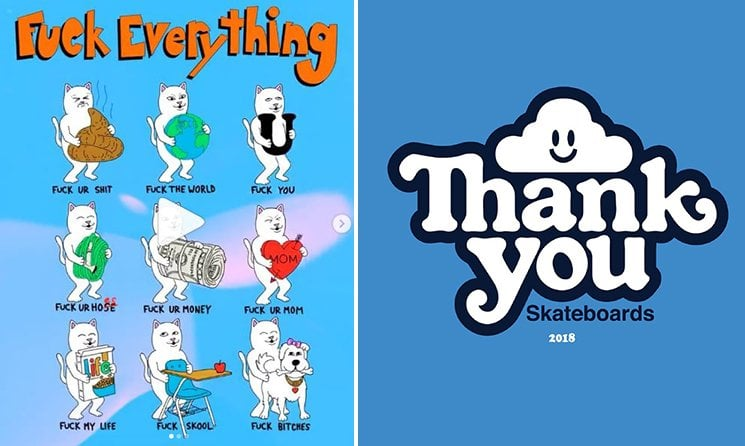 Ripndip and Thank You Skateboards Shop