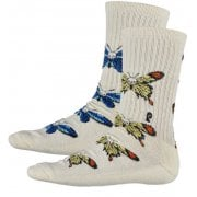 Psockadelic Socks: Death Fly BG