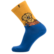 Psockadelic Socks: Farm Dog BL/YL