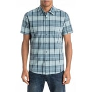 Quiksilver Overhemd: Everyday Check Short Sleeve Shirt BL