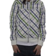 Roxy Girl Jacket: Lovelight Plaid WH, XS