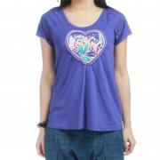 Roxy Girl T-Shirt: Lodge PP, XS