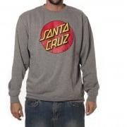 Santa Cruz Sweatshirt: Crew Classic Dot Dark Heather GR