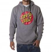 Santa Cruz Sweatshirt: Hood Classic Dot Dark Heather GR