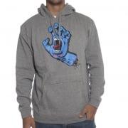 Santa Cruz Sweatshirt: Hood Screaming Hand Dark Heather GR