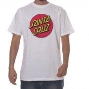 Santa Cruz T-Shirt: Classic Dot WH