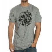 Santa Cruz T-Shirt: Steamer Dot Dark Heather GR