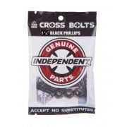 Schroeven Independent: Cross Bolts Phillips Black 1.1/4""