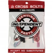 Schroeven Independent: Cross Bolts Phillips Red 1""