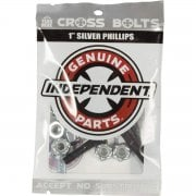 Schroeven Independent: Cross Bolts Phillips Silver 1""