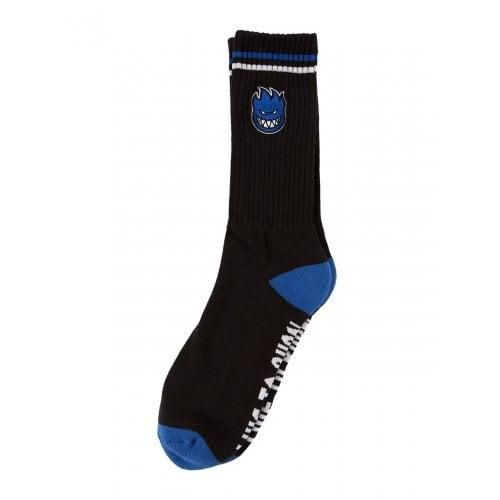 Spitfire Socks: Bighead Fill Emb Black/Blue/White