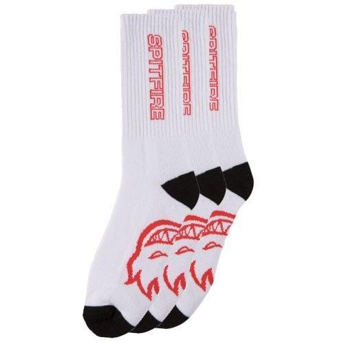 Spitfire Socks: Classic 87 Pack 3 White/Black/Red