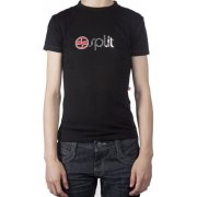Split Girl Tshirt: Simple BK, XS