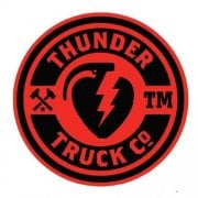 Stickers Thunder Trucks Co: Logo 45 RD/BK