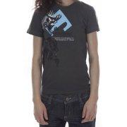 Traditiona Clothing T-Shirt 100% algodão para mulher. Estampa de silk. Marca Traditiona. Cor: cinza.