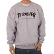 Thrasher Sweatshirt: Skate Mag Crew GR