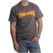 Thrasher T-shirt: Flame Logo GR