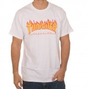Thrasher T-shirt: Flame Logo WH