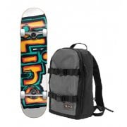 Volledige Skateboards Blind + Backpack: Backpack with First Push OG Matte Orange/Green 7.75