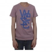 Wesc Girl T-Shirt. Color: pink/blue