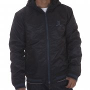 WESC Jacket: We Eskil Hood W/O Back Patch Jacket BK
