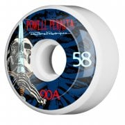 Wielen Powell Peralta: Ray Rod Skull & Sword White/Blue 90A (58mm)