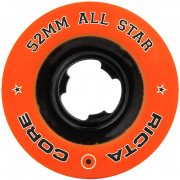 Wielen Ricta: All Star Orange/Black Chrome (52 mm)