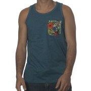 Wrung Tank-Top: Pocketank Heather BL